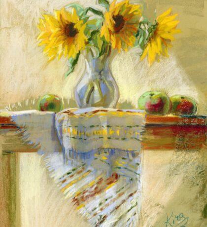Sunflowers in a Vase Sticker