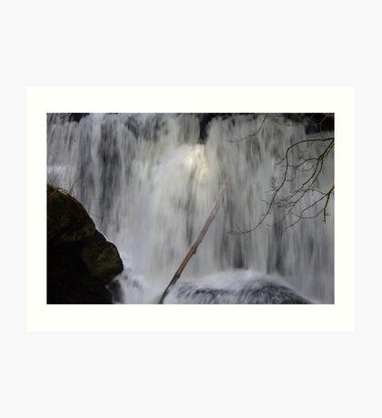 moody whatcom falls, bellingham, washington, usa Art Print