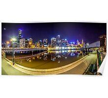 Melbourne Yarra Promenade Poster