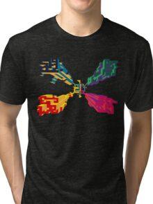 3D geometrics Tri-blend T-Shirt