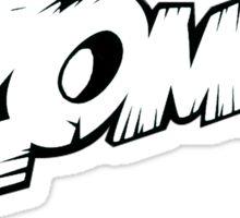 Zomboy logo - Black / White Sticker