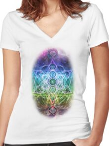 Gods Creation Tshirts Women's Fitted V-Neck T-Shirt