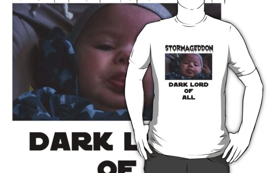 Stormageddon Dark Lord Of All Black Text  by PopCultFanatics