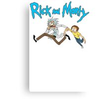 NEW Rick And Morty Adult T Shirt Sociopathic Scientist Adult Swim Funny Cartoon Canvas Print