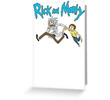 NEW Rick And Morty Adult T Shirt Sociopathic Scientist Adult Swim Funny Cartoon Greeting Card