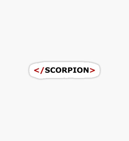 Scorpion logo Sticker