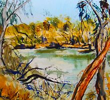 Goulburn River Seymour Vic Australia by Margaret Morgan (Watkins)