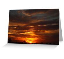 Western NSW Sunset Greeting Card