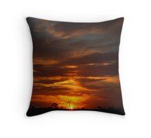 Western NSW Sunset Throw Pillow