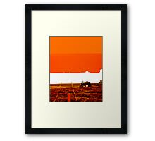 Imprint of an Iowa Field Framed Print