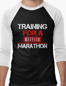 TRAINING FOR A NETFLIX MARATHON - Saiyan Style Black Men's Baseball ¾ T-Shirt