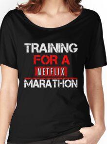 TRAINING FOR A NETFLIX MARATHON - Saiyan Style Black Women's Relaxed Fit T-Shirt