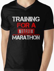TRAINING FOR A NETFLIX MARATHON - Saiyan Style Black Mens V-Neck T-Shirt