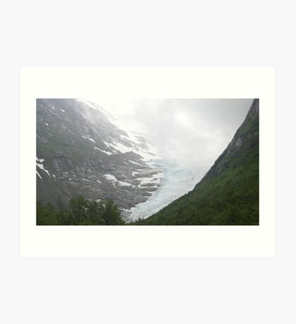 Glacier Olden Norway Art Print