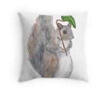 Watercolor Squirrel Throw Pillow