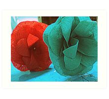 color me red..and ...green Art Print