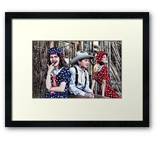 The Twins & Me Framed Print