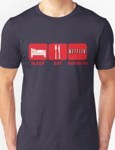 EAT SLEEP MARATHON - NETFLIX Unisex T-Shirt