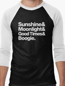 Sunshine, Moonlight & Boogie Ampersand Helvetica Getup Men's Baseball ¾ T-Shirt