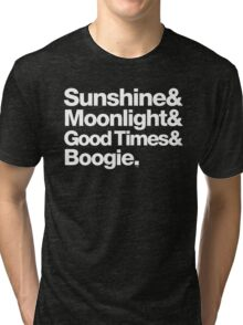 Sunshine, Moonlight & Boogie Ampersand Helvetica Getup Tri-blend T-Shirt