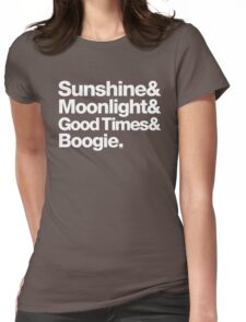 Sunshine, Moonlight & Boogie Ampersand Helvetica Getup Womens Fitted T-Shirt