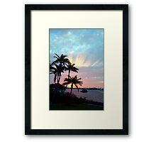 Rays rising above Framed Print