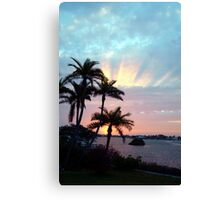 Rays rising above Canvas Print