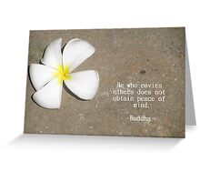 Peace of Mind Buddha Quote Greeting Card