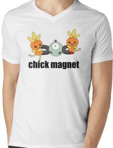 Pokemon Chick Magnet Mens V-Neck T-Shirt