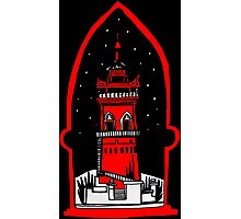 Watch tower in red Photographic Print