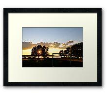 Golden embers Framed Print