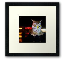 Searching for the big red hand... Framed Print