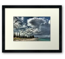 Cumulus Clouds In Esperance.  Framed Print
