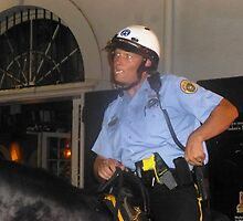 New Orleans Policeman on Horseback by photobylorne