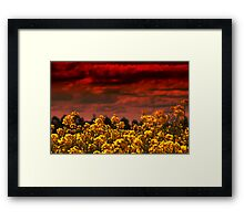 And the sky wept blood to feed the lustful earth Framed Print