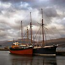 Ships at High Tide by jackitec