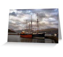 Ships at High Tide Greeting Card