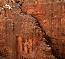 Treasury at Petra, Jordan by Justine Chesterman