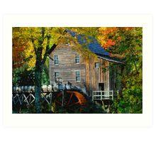 Mill in Autumn Art Print