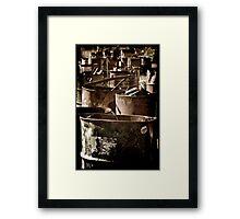 Abandoned Barrels... Framed Print
