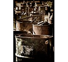 Abandoned Barrels... Photographic Print