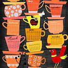 Stapled Cups Calender 2012 by Elisandra