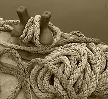 Around the Harbour Series - (2) Rope in Sepia by kalaryder