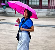 Korean Woman in the Rain by Anthony M. Davis