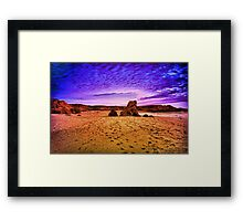 A Great Walk on the Beach Framed Print