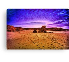 A Great Walk on the Beach Canvas Print
