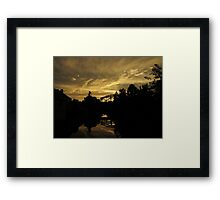 City Gold Framed Print