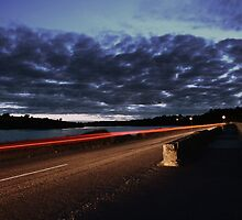 road at night  by ioncarp