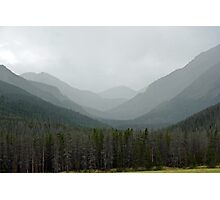 Bowen Mountain in Summer Storm  Photographic Print