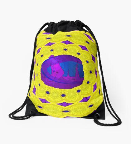 Magenta Meet Yellow Drawstring Bag